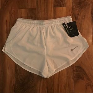 Women's medium white Nike running shorts
